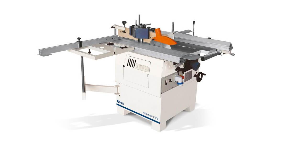 Máquina combinada universal multifunción para carpinterías de madera y artesanos ebanistas marca SCM en venta España