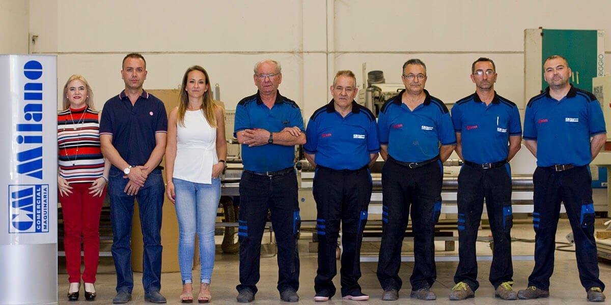 personal técnico y administrativo de Maquinaria Milano