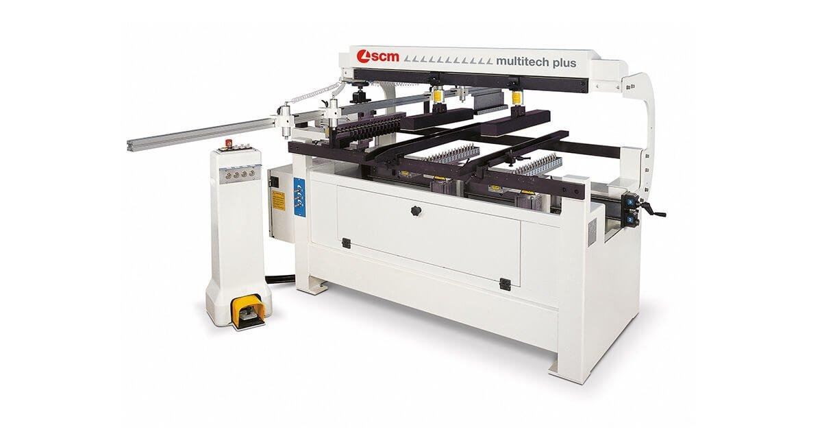 Taladro semiautomático para carpinterías de madera marca SCM en España