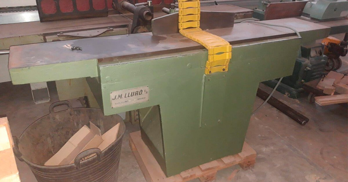 Cepilladora marca JM Lluró