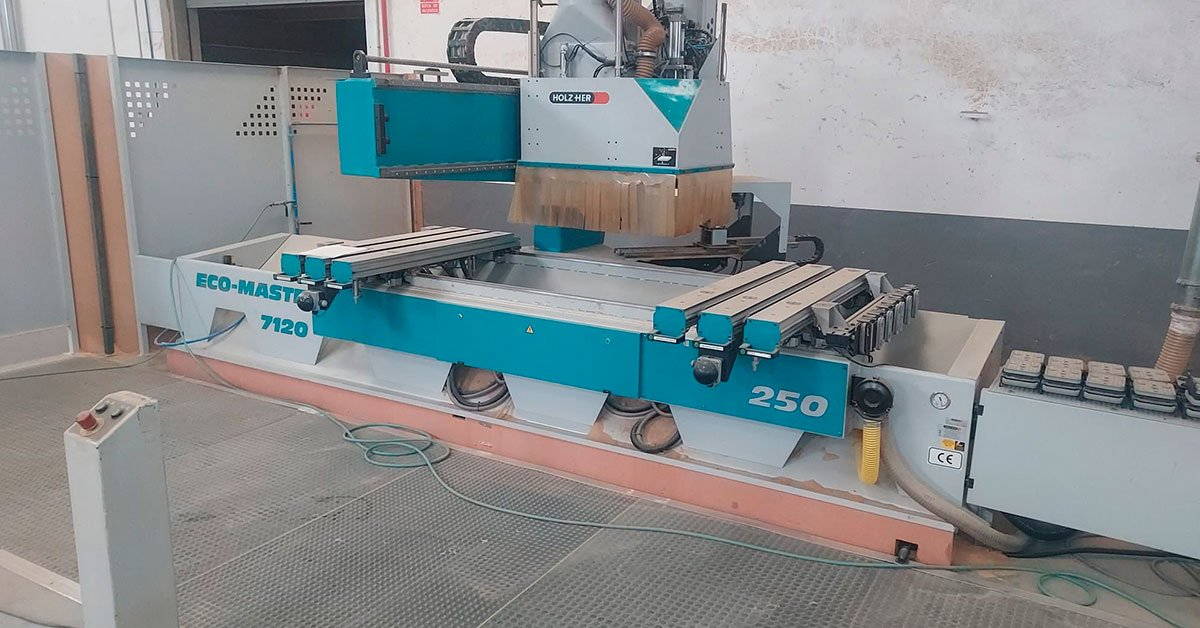 Centro de trabajo holzher modelo eco máster 7120
